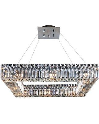 Everly Quinn Riesel 12-Light Unique / Statement Square / Rectangle Chandelier X111448567