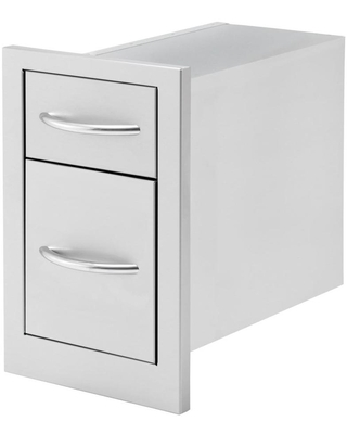 Cal Flame Cal Flame Built-In Grill Cabinet Double Drawer Stainless Steel   BBQ07868P