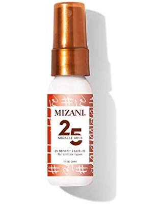 MIZANI 25 Miracle Milk Leave-In Conditioner | Moisturizing DetanglerSpray| for Frizzy & Curly Hair | 1 Fl Oz