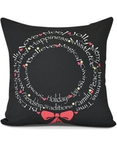 """The Holiday Aisle Words of Peace Throw Pillow HLDY7495 Size: 16"""" H x 16"""" W"""