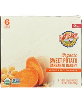 (6 Pouches) Earth's Best Organic Stage 2 Baby Food, Sweet Potato Garbanzo and Barley, 3.5 oz. Pouch