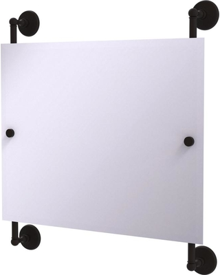 Allied Brass Monte Carlo Landscape Rectangular Frameless Rail Mounted Mirror in Oil Rubbed Bronze
