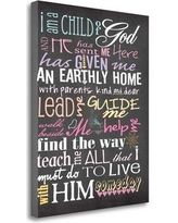 Tangletown Fine Art I Am a Child of God by Jo Moulton - Wrapped Canvas Textual Art Print, Canvas & Fabric in Brown/Pink/Black | Wayfair