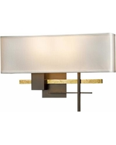"""Hubbardton Forge Cosmo 11 1/2"""" High Bronze Wall Sconce"""