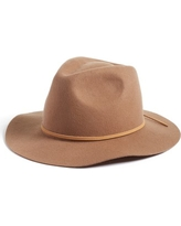 Women's Brixton 'Wesley' Wool Fedora - Brown