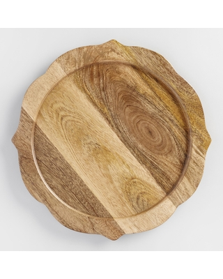 Wood Baroque Chargers Set Of 4 by World Market