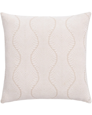 Ivory Ogee Jacquard Throw Pillow by World Market