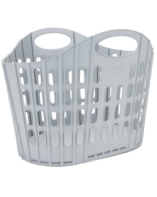 """Mind Reader Collapsible Laundry Basket in Silver 