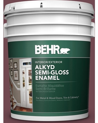 BEHR 5 gal. Home Decorators Collection #HDC-CL-12 Terrace Brown Urethane Alkyd Semi-Gloss Enamel Interior/Exterior Paint