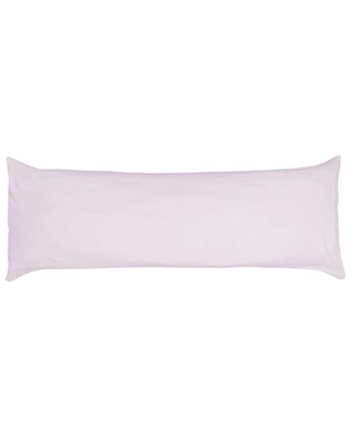 Betty Dain Stretch Jersey Body Pillowcase, 100% Knit Cotton, Soft Covering for Body Pillow, Dual Zippers for Easy Off/On, Machine Washable, Fits Most Body Pillow Styles, 21 x 54 inches, Violet