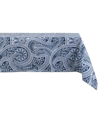 DII Blue Paisley Print Outdoor Tablecloth 60x120