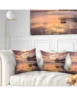 Check Out Deals On Designart Cocoa Beach Florida Landscape Photo Throw Pillow Square 16 In X 16 In Small