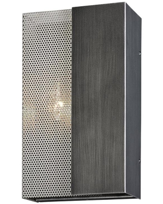 Troy Lighting Impression 7-in W 2-Light Graphite, Satin Nickel Industrial Wall Sconce | B6042