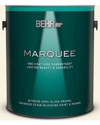 BEHR MARQUEE 1 gal. #ECC-52-2 Aristocrat Ivory Semi-Gloss Enamel Interior Paint and Primer in One