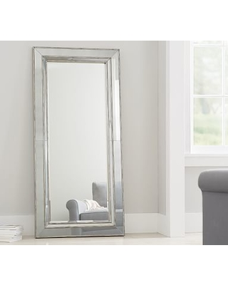 Holiday Shopping Sales For Marlena Antique Floor Mirror Brushed Silver