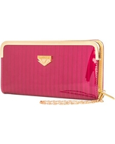 Women's Glossy Clutch Evening Wristlet Wallet Purse with Cell Phone Compartment (fits up to 6.25in x 3.1in)