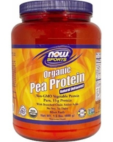 NOW Foods Organic Pea Protein Unflavored-1.5 lbs Powder