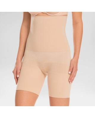 0a48f4b7a8 Assets by Spanx Women s Remarkable Results High Waist Mid-thigh Shaper -  Light Beige S