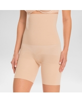 Assets by Spanx Women's Remarkable Results High Waist Mid-thigh Shaper - Light Beige S