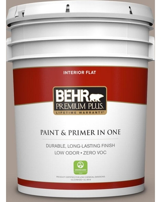 BEHR Premium Plus 5 gal. Home Decorators Collection #hdc-NT-18G Frosted Cocoa Flat Low Odor Interior Paint & Primer