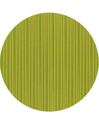 East Urban Home Striped Wool Green Area Rug X112966070 Rug Size: Round 5'