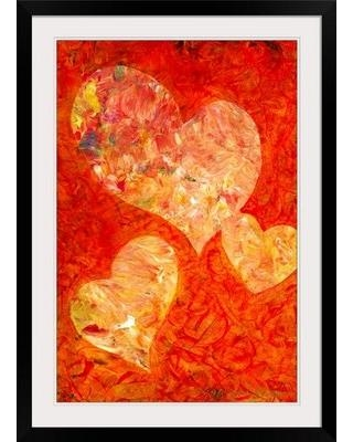 """Great Big Canvas Heartfelt II by Marion Rose Framed Painting Print 1156844 Size: 37"""" H x 27"""" W x 1"""" D"""