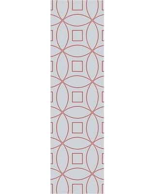 """Wrought Studio Quercia Geometric Handmade Tufted Wool Gray/Pink Area Rug X113865945 Rug Size: Runner 2'6"""" x 9'"""