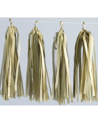 Bala Ceiling Fans Tassel Paper Disposable Centerpieces and Hanging Decor (Set of 12) 35-0100 Color: Gold