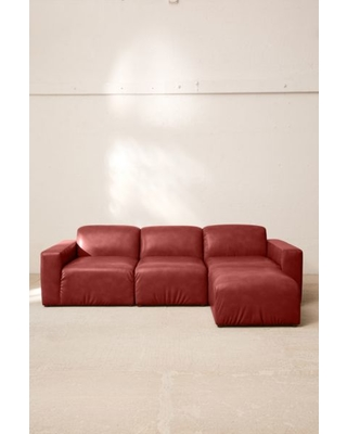 Fine Spectacular Sales For Modular Recycled Leather Sofa Red L Pabps2019 Chair Design Images Pabps2019Com