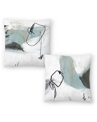 Tied I and Tied Ii Set of 2 Decorative Pillows