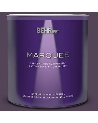 BEHR MARQUEE 1 qt. #M100-7 Deep Merlot Eggshell Enamel Interior Paint and Primer in One