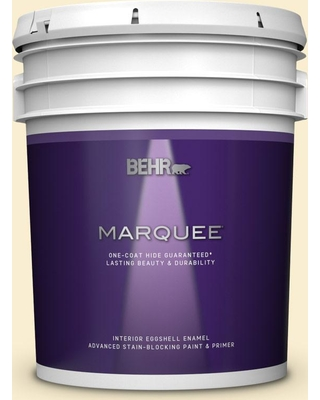 BEHR MARQUEE 5 gal. #360A-2 Morning Sunlight Eggshell Enamel Interior Paint and Primer in One