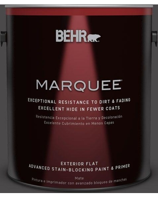 BEHR MARQUEE 1 gal. #N530-7 Private Black Flat Exterior Paint and Primer in One