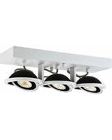Vision 3-Light White and Black Linear LED Track Fixture