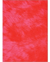 Flokati Red 3 ft. x 5 ft. Area Rug