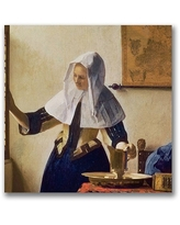 "Trademark Fine Art ""Young Woman with a Water Jug"" Canvas Wall Art by Jan Vermeer"