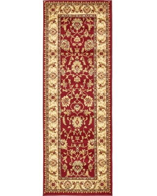 Unique Loom Voyage St. Louis Red 2' 2 x 6' 0 Runner Rug