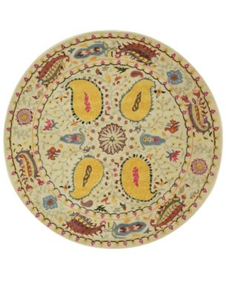 Colleen Hand Tufted Ivory Area Rug The Conestoga Trading Co. Rug Size: Round 6'
