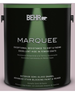 BEHR MARQUEE 1 gal. #690E-3 Iris Pink Semi-Gloss Enamel Exterior Paint and Primer in One