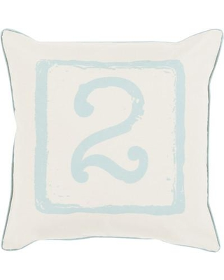 "Williston Forge Logan Square Cotton Throw Pillow WLFR1850 Size: 22"" H x 22"" W x 4"" D Color: Moss/Beige Number: 2"