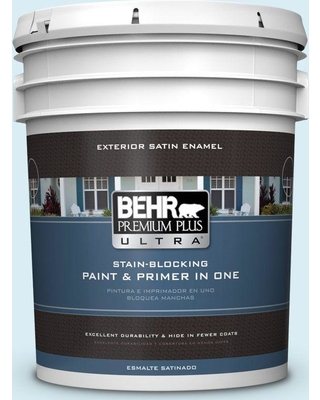 BEHR ULTRA 5 gal. #550C-1 Airy Satin Enamel Exterior Paint and Primer in One