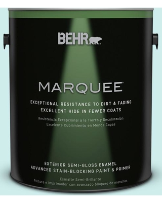 BEHR MARQUEE 1 gal. #510C-1 Ionic Sky Semi-Gloss Enamel Exterior Paint and Primer in One