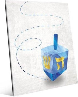 """Click Wall Art 'Spinning Dreidel ' Graphic Art on Plaque HNK0000005ACR Size: 20"""" H x 16"""" W x 1"""" D"""