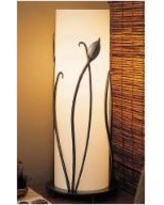 Hubbardton Forge Glass Accent Table Lamp with Leaves
