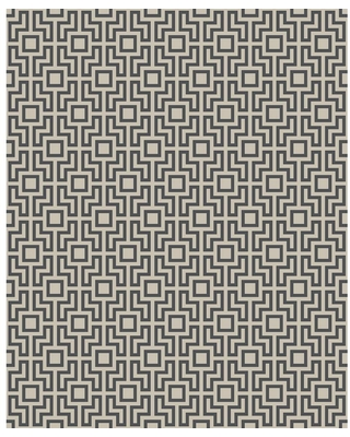 MANHATTAN COMFORT INC Campbell, Black Boxwood Geometric Paper Strippable Wallpaper Roll (Covers 56.4 sq. ft.)