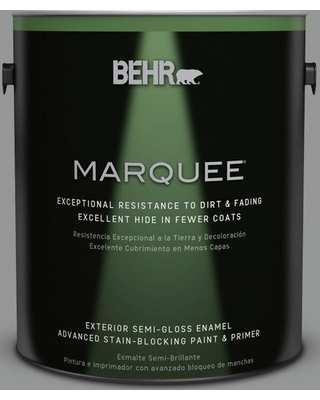 BEHR MARQUEE 1 gal. #PPU24-19 Shark Fin Semi-Gloss Enamel Exterior Paint and Primer in One