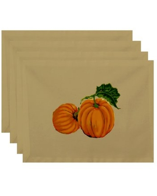 Poitras Pumpkin Patch Holiday Print 4 Piece Placemat Set August Grove® Color: Yellow
