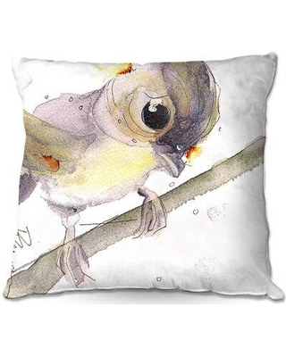 """East Urban Home Couch Tufted Titmouse Throw Pillow W000747899 Size: 18"""" x 18"""""""
