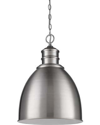 Acclaim Lighting Colby 1-Light Indoor Satin Nickel Pendant with Metal Shade
