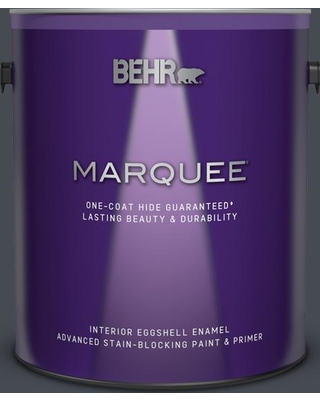 BEHR MARQUEE 1 gal. Home Decorators Collection #HDC-CL-24 Black Ribbon Eggshell Enamel Interior Paint and Primer